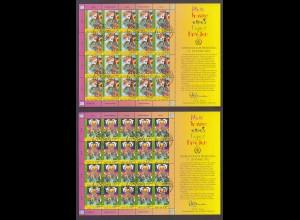 UNO WIEN MiNr. 451/452 (2005) Kleinbogen/minisheets gestempelt/o (USED)