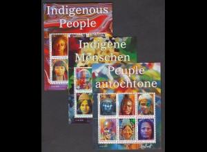 UNO NEW YORK/GENF/WIEN - Indigene Menschen 2009 postfrisch/** (MNH) - 3 Blöcke