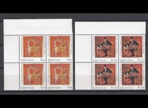 EUROPA CEPT Portugal 1975 VIERERBLOCK postfrisch/** (MNH) - € 280