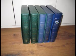 EUROPA CEPT Sehr umfangreiche FDC-Sammlung 1980-1997 - 5 Binder - ca. 600 FDC's