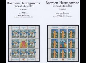 EUROPA CEPT Bosn.Herz (Serbische Rep.) 2000 KB/minisheets pfr/** (MNH) - € 1000