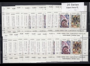 EUROPA CEPT Türkisch-Zypern 1993 Block postfrisch/** (MNH) - 20 Stück - € 100