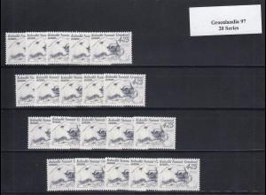 EUROPA CEPT Grönland 1997 postfrisch/** (MNH) - 20 Serien - € 50