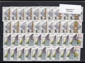 EUROPA CEPT Deutschland 1997 postfrisch/** (MNH) - 20 Sätze - € 60