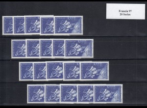 EUROPA CEPT Frankreich 1997 postfrisch/** (MNH) - 20 Serien