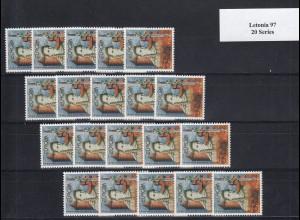 EUROPA CEPT Lettland 1997 postfrisch/** (MNH) - 20 Serien