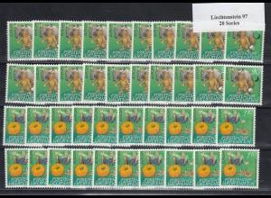 EUROPA CEPT Liechtenstein 1997 postfrisch/** (MNH) - 20 Sätze - € 100