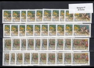 EUROPA CEPT Ungarn 1997 postfrisch/** (MNH) - 20 Sätze - € 60