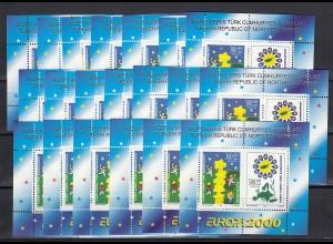 EUROPA CEPT Türkisch-Zypern Block 2000 postfrisch/** (MNH) 20 Stück - € 160