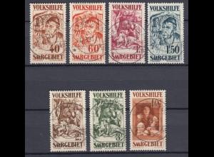 SAARGEBIET MiNr. 144/150 Volkshilfe III (1931) gestempelt/o - € 650