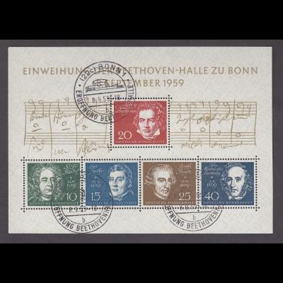 BUND Block 2 (1959) Ersttagssonderstempel Eröffnung Beethovenhalle 8.9.59 - € 80